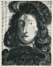 Pablo PICASSO - Portrait de Dora Amaar- Eau Forte datée à la main -31x24cm -RARE