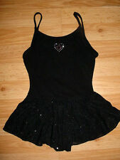 Girls Gymnastics-Dance-Tumbling-Skating Skate Costume-Glitter Skirt-Dress-S-6-6x