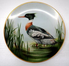 Waterbird Plate Summer Collection Limited Danbury Mint Red Breasted Merganser