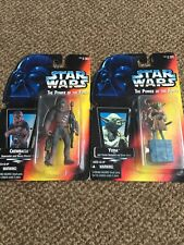 star wars- the power of the force action figure job lot - carded
