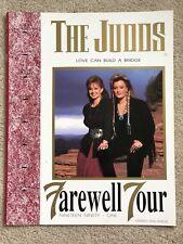 The Judds Farewell Tour Program 1991