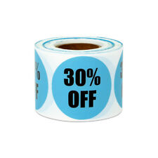 "30% Off Sticker Label Yard Garage Sale Retail Store Clearance Market (1.5"", 4PK)"