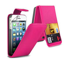 PINK FLIP LEATHER PHONE CASE WITH CARD SLOT FOR Apple iPhone 4/4S UK free post