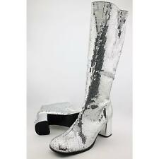 62ed8b4554f9 Bordello Spectacular 300sq Women US 13 Silver Knee High Boot Pre Owned 1927