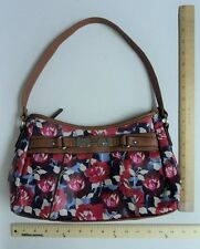Women's ROSETTI Red Poppy & Purple Flowers Purse Hand Bag Hobo Style Tote