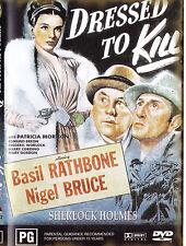 DRESSED TO KILL Sherlock Holmes / Basil Rathbone DVD R4 - PAL - New