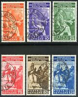 Vaticano 1935 Congresso Giuridico S10 n. 41/46 usati (l067)