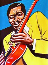 BUDDY GUY PRINT POSTER gibson guitar damn right I've got the blues cd best of