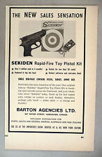 Sekiden Rapid-Fire Toy Pistol Kit PRINT AD - 1965 ~~ Barton Agencies