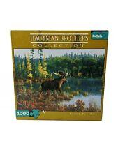 1000 Pcs Puzzle Buffalo Games Black Bay Moose NEW Hautman Brothers Collection