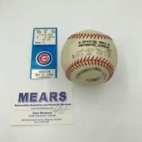 Craig Biggio Game Used Actual First Home Run Baseball May 3, 1995 With Mears COA