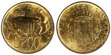 200 Lire 1981 San Marino §717