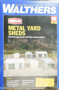 Walthers HO #933-4123 Metal Yard Shed -- Kit - Set of 2 each of 3 styles