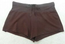 💗BODY BY VICTORIA Brown Draw String Super Sexy Stretch Mini Shorts 💗 Sz S
