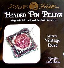 Mill Hill magnético de grano » con cuentas de lino Pin Almohada « kit de' Vintage Rose' bpp1