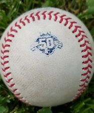 2018 GAME USED FOUL MLB OFFICIAL BASEBALL 50TH KC ROYALS GAME USED BALL