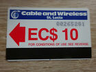 St. Lucia Cable and Wireless - alte + seltene Magnet - Telefonkarte / gebraucht
