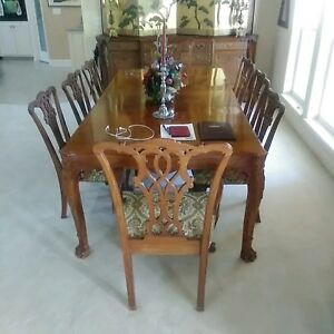 Chippendale Mahogany Dining Room Set