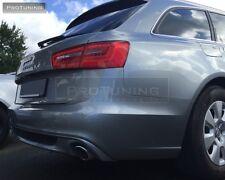 AUDI A6 4G C7 11-15 Avant paraurti posteriore Diffusore Spoiler S per SLINE S-LINE Addon S6 6