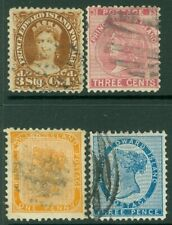 EDW1949SELL : PRINCE EDWARD 1862-72 Scott #4, 6, 10, 13 Fine, Used. Catalog $147