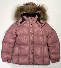 EDDIE PEN Kids Girls Short Puffer Jacket W/ Fur Pink 8 NWT $340