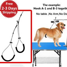 Pet No Sit Haunch Holder Dog Grooming Arm Loop Restraint Small Medium Dogs New