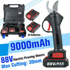 88V Cordless Electric Pruning Shears Li-ion Secateur Branch Cutter + 1/2 Battery