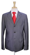 * PRADA * Recent Iridescent Gray 100% Cotton 3-Btn Luxury Suit 40L
