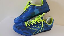 Mens KARRIMOR size 8 Run Spike Track RUNNING Shoes TRAINERS blue yellow FREE P&P