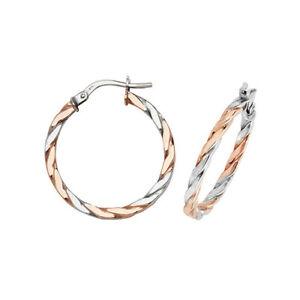 9ct Rose Gold Earrings - 20mm Hoops - 375 Hallmarked