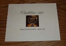 Original 1978 Cadillac Full Line Behind the Great Name Sales Brochure Fleetwood