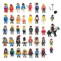 Lot of (40)+ Geobra PLAYMOBIL Figures Some Vintage Eskimos Knights Pirates Horse