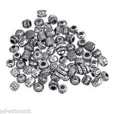 50 Mix European Zwischenperlen Antiksilber Charms Beads Raumschiff Oval