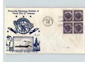 WORLD WAR II Veterans, CROSBY Photo of USS Franklin Roosevelt Ship, BL/4 1946 Fi