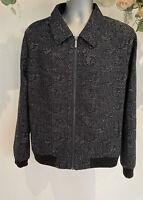 Native Youth Jacket Coat Bomber Men's Size UK M Medium Black White Pattern GM06