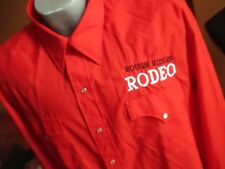 Xxl Nwot True Vtg 80s Karman Embroidered Rough Riders Rodeo Western Snap Shirt