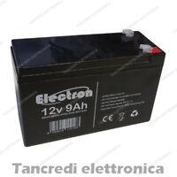 Batteria Ermetica Ricaricabile al Piombo 12V 9 ah PER UPS GRUPPI DI CONTINUITA'