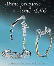 Bracciale con scritta o nome personalizzabile in argento