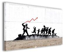 Quadri famosi Banksy XII stampe riproduzioni su tela copia falso d'autore