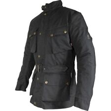 30% OFF RICHA BONNEVILLE LADY Black Quality Waxed Cotton Motorcycle Jacket