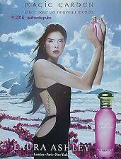 PUBLICITE LAURA ASHLEY PARFUM MAGIC GARDEN ELIXIR DE 2001 FRENCH AD ADVERT PUB