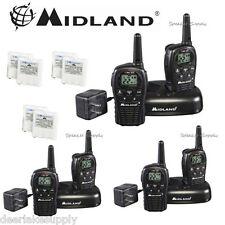 MIdland LXT500VP3 Two Way Radio Walkie Talkie Set 24 Mile Range 6 Pack w/ Cradle