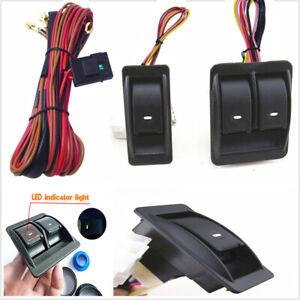 1 set Auto Car Power Window Switch Kits With Wiring Harness For 2 doors type