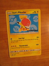 LP Pokemon ASH'S PIKACHU Card BLACK STAR PROMO Set SM114 I CHOOSE YOU The Movie