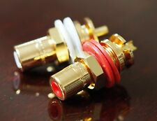 RCA socket CMC 816 U gold plated one pair  !