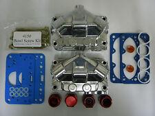 Holley QFT AED CCS Aluminum Float Bowl Kit  Dual Inlets Double Pumper 4150-4500