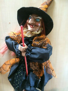 Hexe,52 cm-Lachen-Faschingsdekoration-Hexenfiguren-Hexen-Deko-Halloween-Fasnet