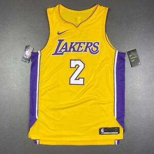 """100% Authentic Lonzo Ball Nike Lakers Jersey Size 48 L +2"""" Mens"""