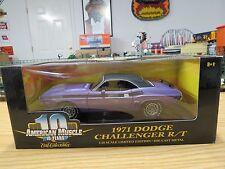 Ertl American Muscle 1971 Challenger R/T Purple 340 4Bbl ,1:18 , # 36512 , New