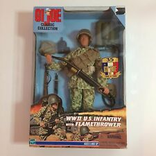 GI Joe Classic Collection - WWII U.S. Infantry With Flamethrower - NIB